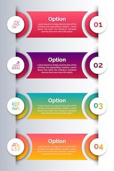 Infografik vorlage mit symbol und nummer