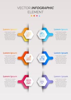 Infografik vorlage mit symbol
