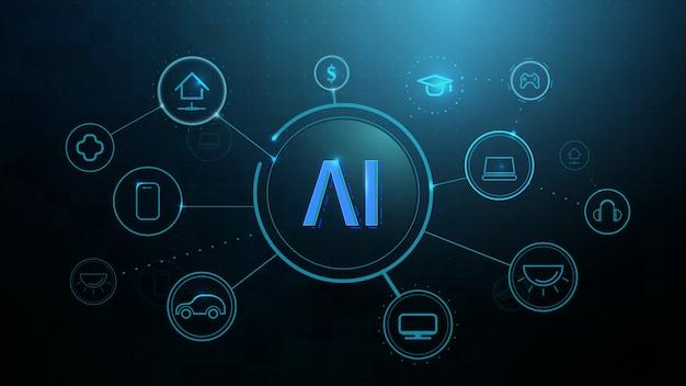 Infografik vorlage mit symbolen, intelligente technologien