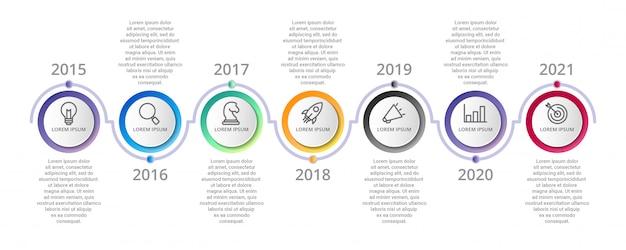 Infografik-vorlage mit symbolen optionen oder schritte