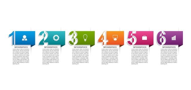 Infografik-vorlage mit zahlenoption für geschäftspräsentationen