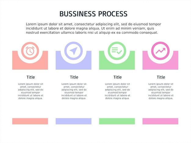 Infografik vorlage vier schritte und powerpoint