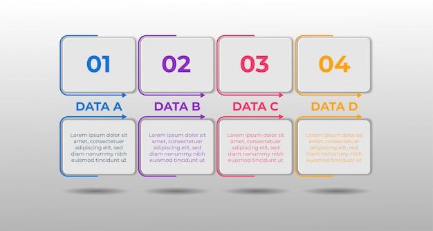 Infografik-vorlage zur datenvergleichsauswahl