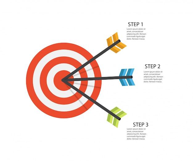 Infografik-vorlagen für business illustration