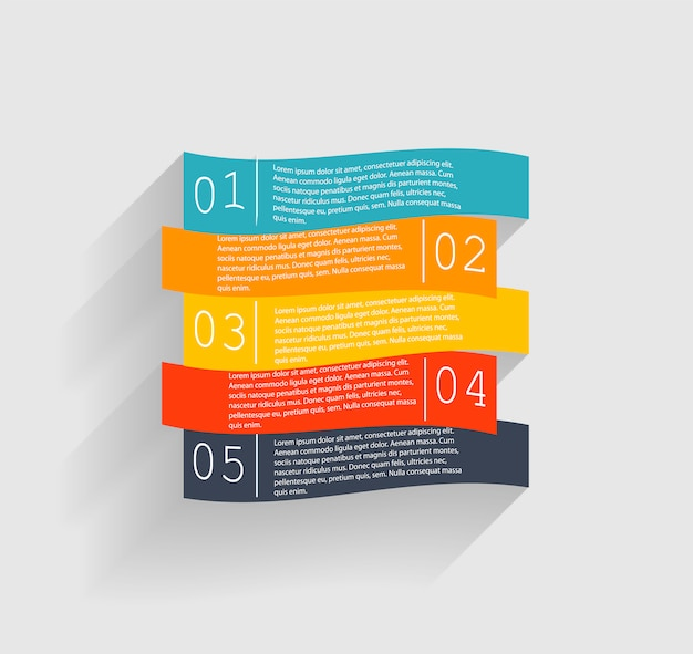 Infografik-vorlagen für geschäftsillustrationen