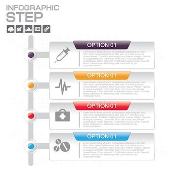 Infografik-vorlagen mit 5 optionen für unternehmen