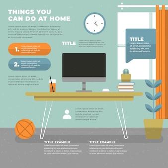 Infografik zu hause bleiben