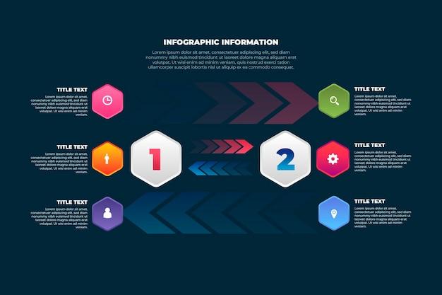 Infografik zu ursache und wirkung von farbverläufen