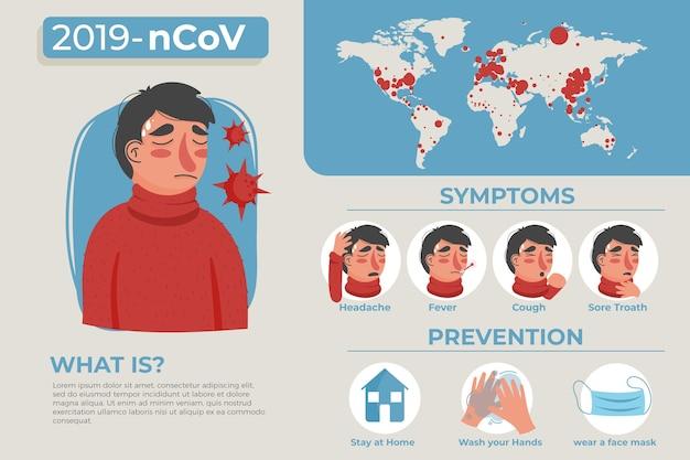 Infografik zum coronavirus-konzept