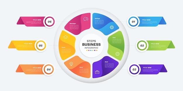 Infografik zum gradientenkreisdiagramm