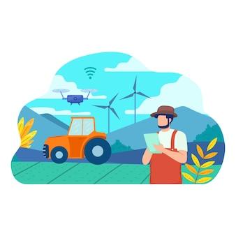 Infografik zum intelligenten ökologischen landbau