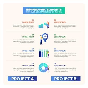 Infografik zum vergleich mit abbildung