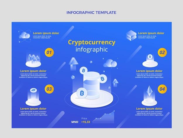 Infografik zur abstrakten technologie mit farbverlauf