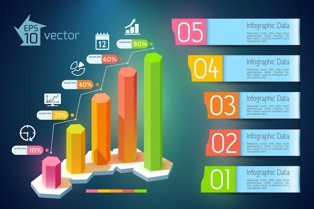 Infografik zur geschäftsentwicklung