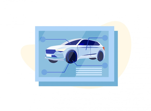 Infografik zur wartung von automechanikern
