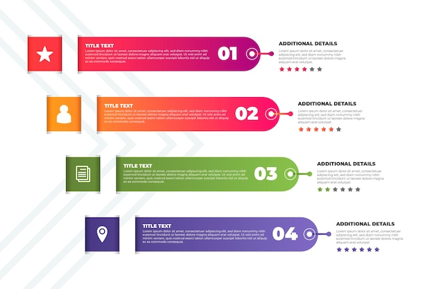 Infografikdesign mit verlaufsprozess