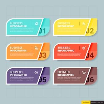 Infografiken banner vorlage 6 optionen