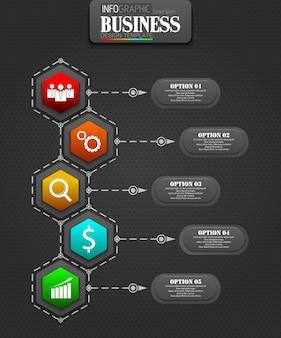 Infografiken business template konzept