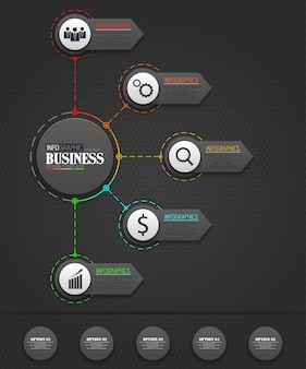 Infografiken business template konzept
