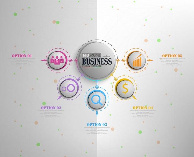 Infografiken business template-konzept