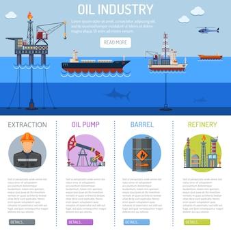 Infografiken der ölindustrie