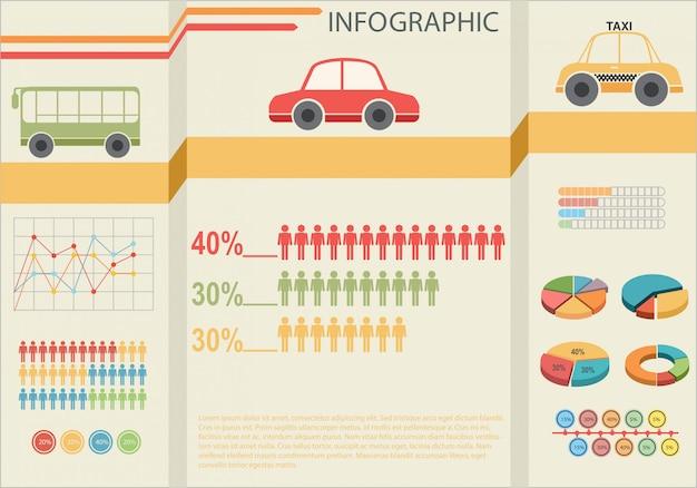 Infografiken des transports