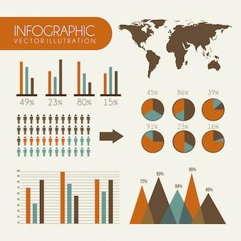 Infografiken design auf weißem hintergrund vektor-illustration