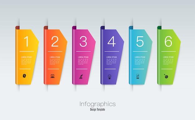 Infografiken design mit schritten oder optionen.