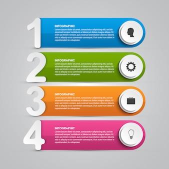 Infografiken designvorlage für präsentationen.
