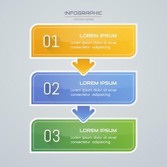 Infografiken designvorlage mit symbolen