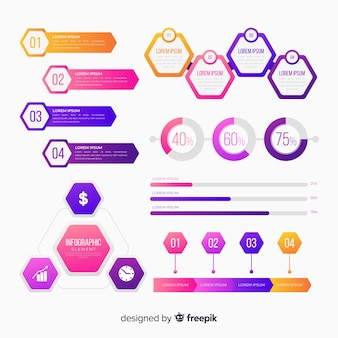 Infografiken element collectio