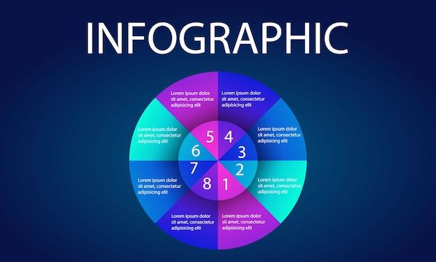 Infografiken element datenvorlage