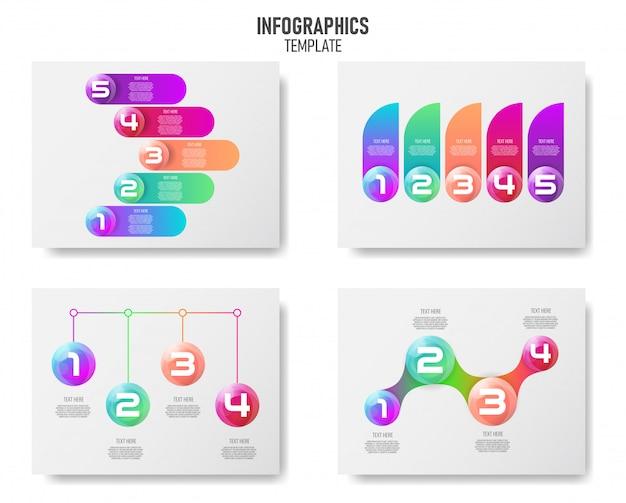 Infografiken elementsammlung für unternehmen.
