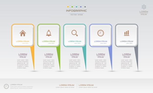 Infografiken entwurfsvorlage mit symbolen