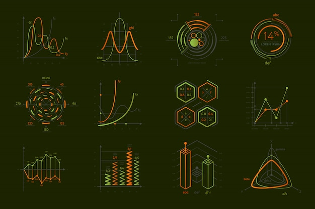 Infografiken für business-präsentation festgelegt