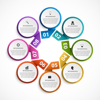 Infografiken für business-präsentation