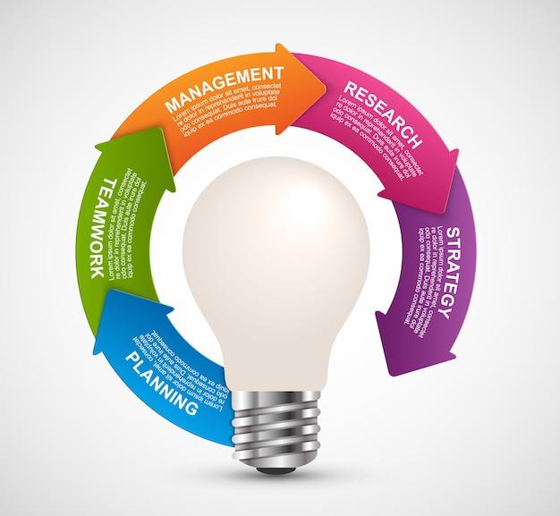 Infografiken für business-präsentationen.