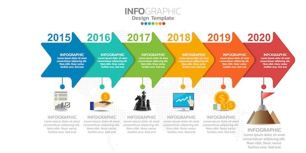 Infografiken für geschäftskonzept mit symbolen und optionen oder schritten.