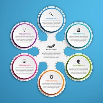 Infografiken für geschäftspräsentationen oder informationsbanner.