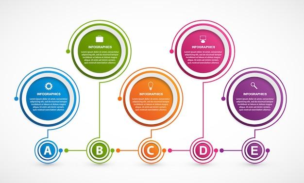 Infografiken für geschäftspräsentationen oder informationsbanner