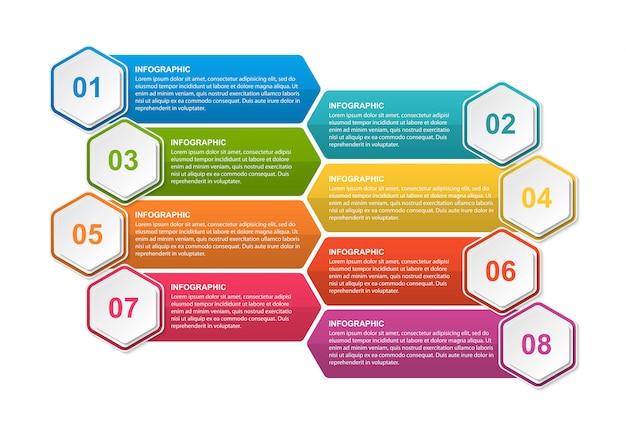 Infografiken für geschäftspräsentationen.