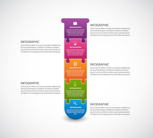 Infografiken in form von chemischen reagenzgläsern.