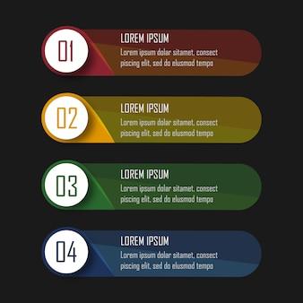 Infografiken mit 4 schritten