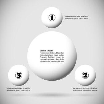 Infografiken mit einer gruppe fliegender bälle