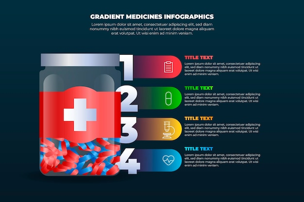Infografiken mit gradientenmedikamenten