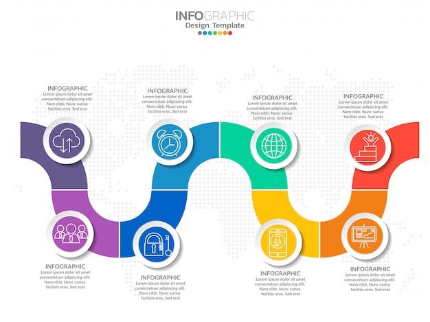 Infografiken mit schritt