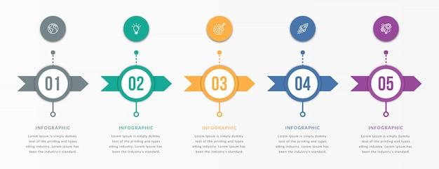Infografiken mit schritten