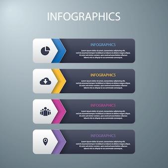 Infografiken optionen vorlagenhintergrund festlegen
