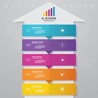 Infografiken pfeil diagramm gestaltungselement.