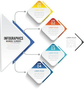 Infografiken. schritte oder prozesse. 4 schritte.